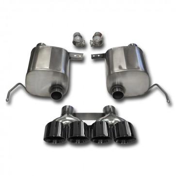 "C7 Corvette Stingray Exhaust - CORSA EXTREME Valve-Back Performance Exhaust System : Quad 4.50"" Round Black Tips"