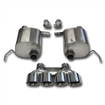 "C7 Corvette Stingray Exhaust - CORSA SPORT Valve-Back Performance Exhaust System : Quad 4.50"" Round Tips"