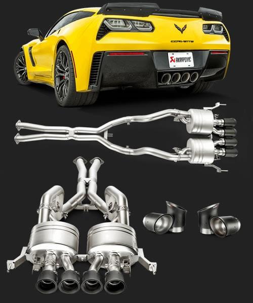 akrapovic titanium corvette c7 z06 exhaust lg motorsports. Black Bedroom Furniture Sets. Home Design Ideas