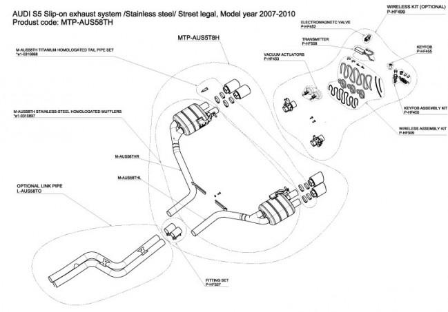v8 exhaust diagram