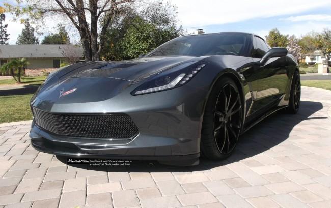 corvette c7 stingray 2014 one piece lower valance - 2015 Corvette Stingray Matte Black