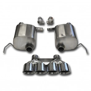 "C7 Corvette Stingray Exhaust - CORSA SPORT Valve-Back Performance Exhaust System : Quad 4.50"" Round Tips"