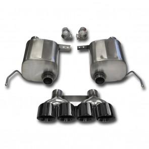 "C7 Corvette Stingray Exhaust - CORSA SPORT Valve-Back Performance Exhaust System : Quad 4.50"" Round Black Tips"
