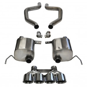 "C7 Corvette Z06 Exhaust - CORSA EXTREME Axle-Back Performance Exhaust System : Quad 4.50"" Round Tips"