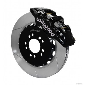AERO6 Big Brake Front Brake Kit - Slotted+Black Caliper