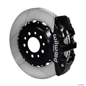 Wilwood C7 AERO4 Big Brake Rear Brake Kit - Slotted+Black Caliper