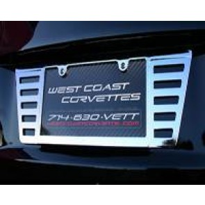 C6 Rear Billet License Plate Frame