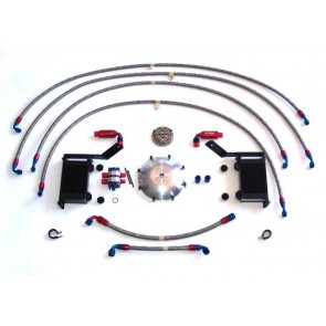 LG Motorsports Differential & Transmission Cooler Complete Kit With Lines, Coolers and Pump