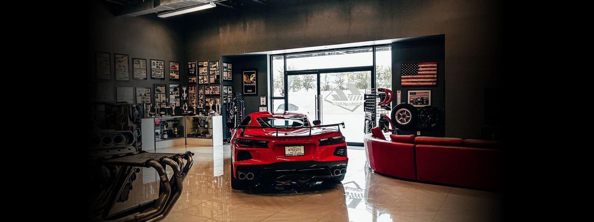 LG Motorsports Showroom